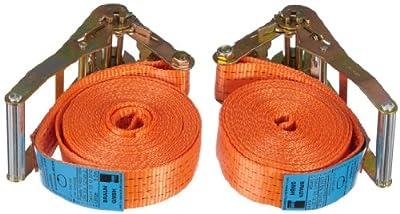 Braun 2000-1-600/VE2 Spanngurt 4000 daN, einteilig, Farbe Orange, 6m Länge, 50mm Breite