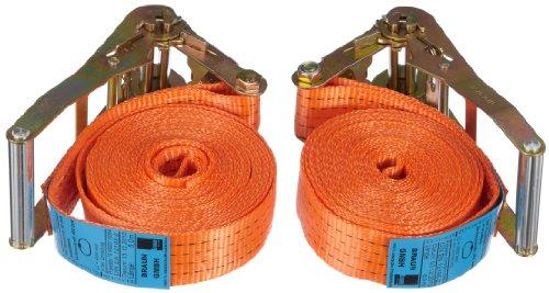 Braun 2000-1-600/VE2 - Pulpo con hebilla para baca (2 unidades, 4000 daN, 6 m, 50 mm de ancho), color naranja