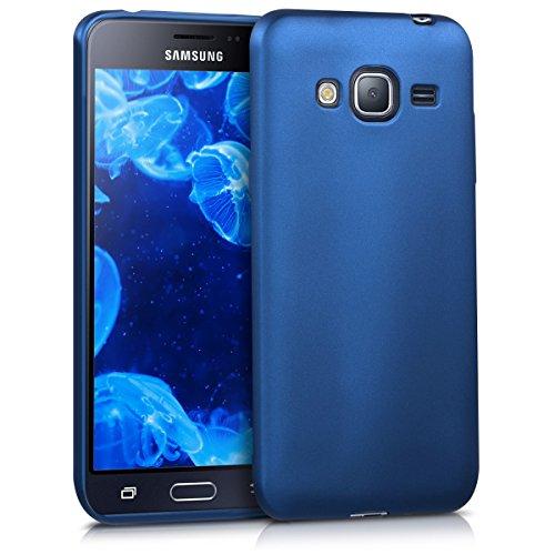 kwmobile Samsung Galaxy J3 (2016) DUOS Hülle - Handyhülle für Samsung Galaxy J3 (2016) DUOS - Handy Case in Metallic Blau