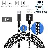 USB 3.1 Typ C Kabel, Gusspower Reversible Super Geschwindigkeit USB C Nylon geflochtenes Kabel für Samsung Note 8, Galaxy S8 / S8 Plus, LG G6 / G5, Google Pixel, OnePlus 5 etc (1m)