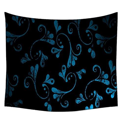 Snoogg blau abstrakt Design Indische Mandala Wandbehang Tapisserie Dekorative Wohnheim Wandteppichen Beach Picknick Tabelle Hippie Tapisserie Wand, Bohemian Gobelin