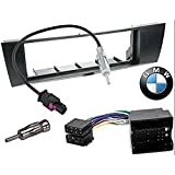 Kit de montaje marco para radio adaptador autorradio 1 DIN BMW 1 / BMW 3 / BMW X1 / BMW Z4