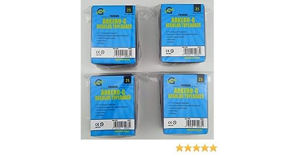 Arkero-G/® 100 Regular Toploader 3 x 4 Schutzh/üllen f/ür Standard und Small Sammel-Karten z.B Yugioh Trading Card Game Spiele Pokemon MTG Magic