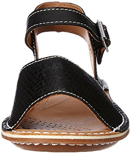 ClarksTustin Sinitta - Sandali con Cinturino alla Caviglia donna Nero (Black Combi)