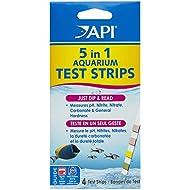 API Aquarium Water Quality Test 5in 1Test Strips 4Strips