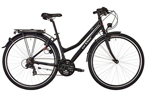 Ortler Trekking-Bike Lindau Wave | 28-Zoll Touren-Rad für Damen in Schwarz mit 21-Gang Shimano-Schaltung
