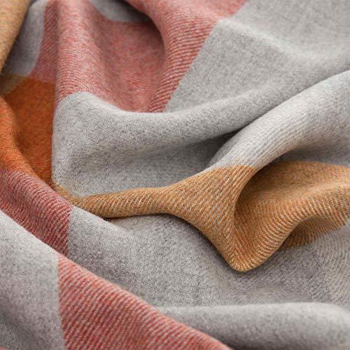 LORENZO CANA High End Alpakadecke aus 100% Alpaka - Wolle vom Baby - Alpaka flauschig weich Decke Wohndecke Sofadecke Tagesdecke Kuscheldecke 96284 -