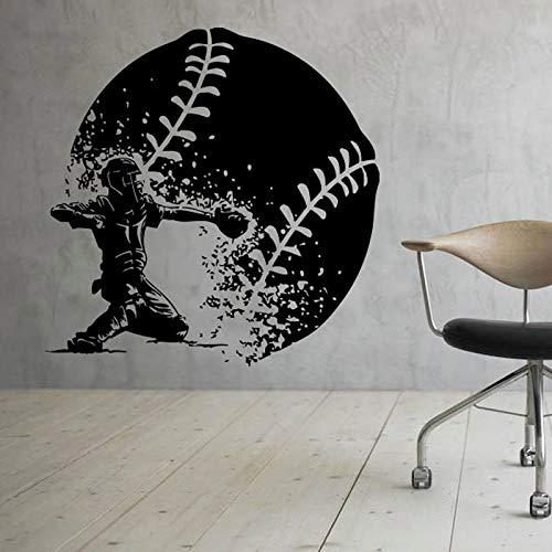zqyjhkou Tinte Baseball Wand Vinyl Aufkleber Sport Aufkleber Art Design Wandbilder Design Interior Home Decor Jungen Zimmer C430 42x43cm