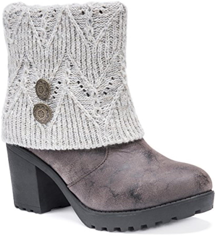 77567cda0f21 Mukluks Women rsquo s Muk Muk Muk LUKS Christa Heeled Boots Wheeled Heel  Shoe B072MQXCG7 Parent 01889c