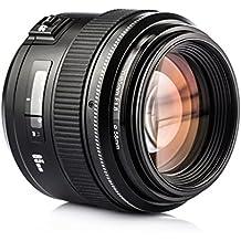 Yongnuo YN85mm F1.8 lente AF/MF Estándar y medio Telefoto Prime objetivo fijo para Canon EF Mount EOS Cámara con TARION bolsa de protección