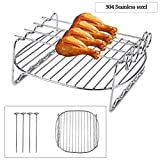 Zunate Griglia per Barbecue - Graticola Acciaio, Antiaderente Rib Rack-BBQ Accessori