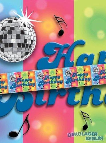 Bordüre Disco Happy Birthday ()