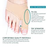 Bunion Corrector,Oxyland Bunion Relief Protector Sleeves Pad with Gel Toe Separators Spacers Straightener and Spreader 2 Booties for Hallux Valgus Bunion Pain Relief Big Toe Alignment (1 pair Bunion Sleeves)