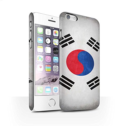 Clipser Matte Coque de Stuff4 / Coque pour Apple iPhone 5/5S / Chili/Chiliean Design / Drapeau Collection Corée/coréen