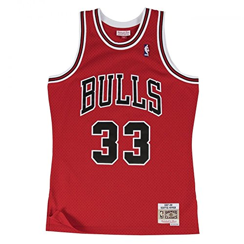 Mitchell & Ness Scottie Pippen #33 Chicago Bulls 1997-98 Swingman NBA Trikot Rot, S
