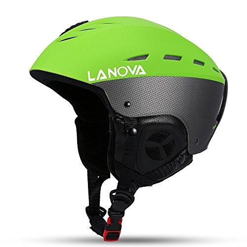 Asvert Unisex Thermische Skihelm für Männer und Frauen ABS + EPS + Samt Einstellbare Atmungsaktivität mit Fixativ für Wintersport Skibrille, sechs Farben zur Auswahl, Größe M / L