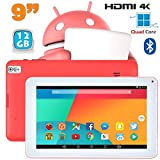 Tablette 9 pouces Android 6.0 Tactile HDMI 4K 1,5GHz 1Go RAM Rose 12Go