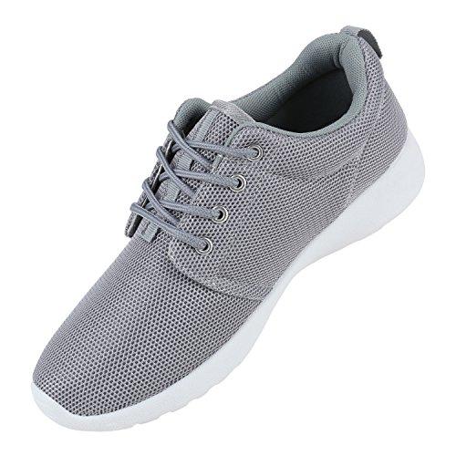 Modische Herren Sportschuhe   Freizeit Sneaker Snake   Laufschuhe Runners Trainers   Sneakers Schuhe Hellgrau Bernice