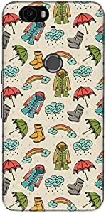 The Racoon Grip printed designer hard back mobile phone case cover for Huawei Nexus 6P. (Rainy Seas)