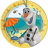 20cm Disney Frozen Party Teller, 8Stück mit Sommer Olaf
