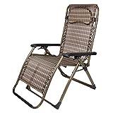 Deckchairs Feifei Klapp Lounge Zero Gravity Stuhl Liegestuhl Übergroßen Patio Recliner für Outdoor-Unterstützung 300lbs Zusammenklappbar (Farbe : A)