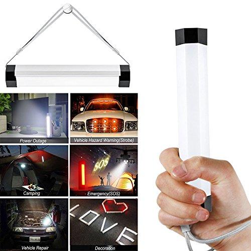 dingrich lámpara de camping LED, portátil magnética Recargable por USB Lámpara LED Luz de noche luz de emergencia Lámpara Linterna 4Nivel de brillo y modo de flash lámpara de luz para camping jardín al aire libre, blanco