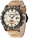 Timberland Men's Beige Leather Strap Watch