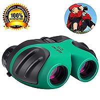 Children Binoculars For Kids, Mini Compact 8 x 21 Rubber Binoculars For Bird Watching&Wildlife (Green)