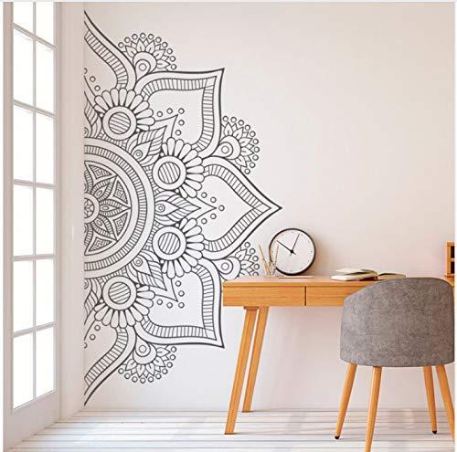 OJVVOP Media Mandala Etiqueta De La Pared Calcomanía para El Dormitorio Moderno Diseño Patrón Vinilo Arte Autoadhesivo Pegatinas De Pared Decoración De La Habitación En Casa 112 * 56 Cm