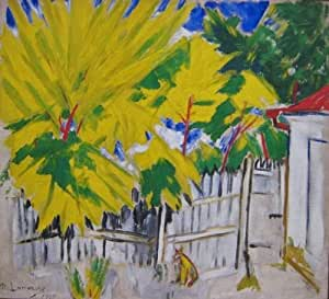 Reproduction peinte a la main - 24 x 22 inches / 61 x 56 CM - Mikhail Fiodorovich Larionov - journée ensoleillée