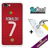 BeCool Coque Etui Housse en GEL Asus Zenfone 4 Max ZC554KL, [ +1 Protecteur Verre Trempé ] Silicone TPU, protège et s'adapte a la perfection a ton Smartphone. Ronaldo.