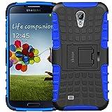 ykooe Galaxy S4 Hülle, (TPU Series) Samsung S4 Dual Layer Hybrid Handyhülle Drop Resistance Handys Schutz Hülle für Samsung Galaxy S4 (Nicht mit S4 Mini zu verwenden) Blau