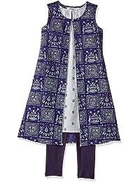 Karigari by Unlimited Girls' A-Line Regular Fit Salwar Suit Set (400017787442)