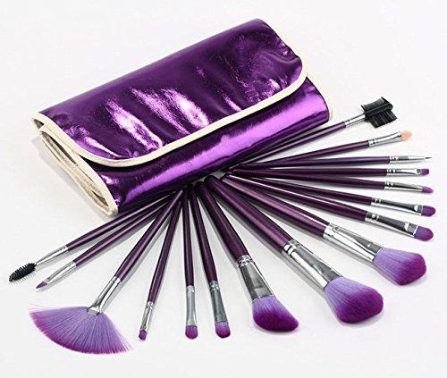 16 pcs Qingsun pinceau de maquillage professionnel Set Outil et cosmétique (violet)