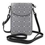 Photo de Women Mini Purse Crossbody of Cell Phone,Grid Style Checkered Squares in Many Sizes Oriental Culture Asian Design par Nisdsgd