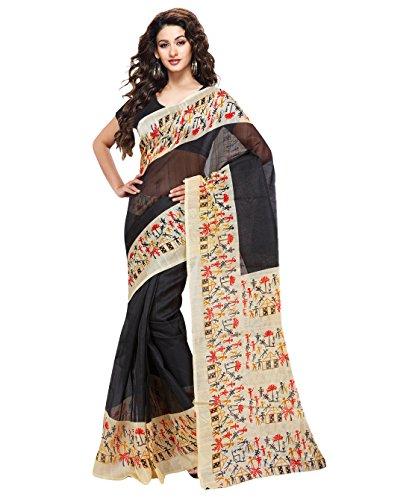 Saree (Trendz Bhagalpuri Silk Saree)  available at amazon for Rs.299