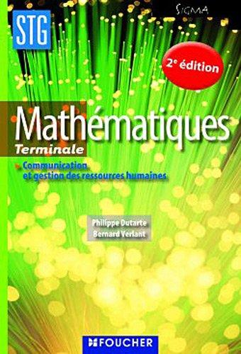 Mathématiques 2e édition: CGRH