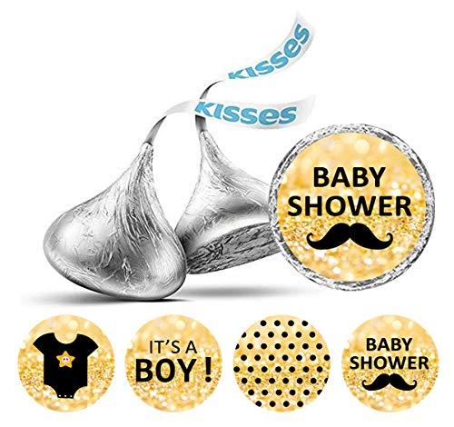 Darling Souvenir-Süßigkeit Bevorzugungs-Babyparty-Party-Thema-Aufkleber für Hershey Kisses 190 Pcs-Flitter Gold
