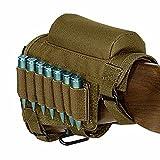 FIRECLUB Jagd Taktische Gewehrschafttasche Gewehr Munition Rest Halter Tasche, verstellbar für Rechte/Linke Hand (sand)