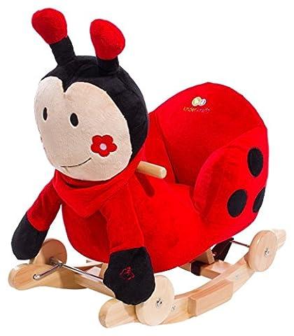 Balançoire coccinelle à bascule avec roues type cheval à bascule