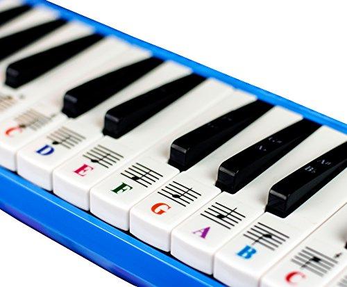Piano Aufkleber für 32Schlüssel melodica-transparent und abnehmbar mit gratis Piano eBook - Schlüssel Für Aufkleber Piano