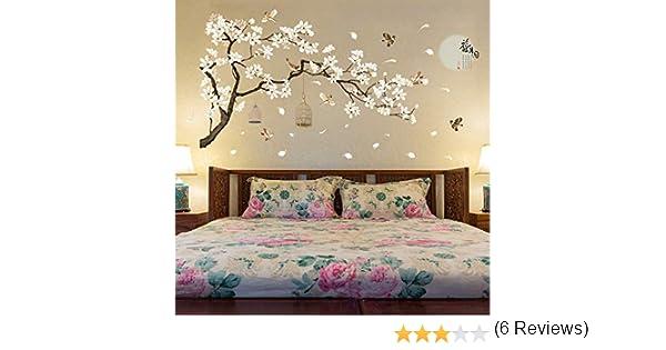 LETAMG Stickers Muraux 187 128 Cm Grand Taille Arbre Stickers Muraux Fleur Home Decor Papiers Peints pour Le Salon Chambre Bricolage Vinyle Chambres D/écoration