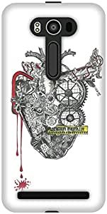 The Racoon Lean printed designer hard back mobile phone case cover for Asus Zenfone 2 Laser ZE550KL. (The Machin)