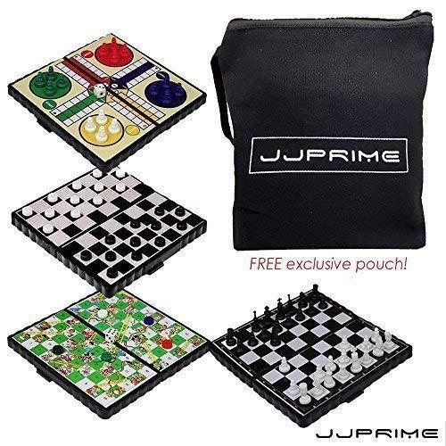 JJPRIME WSS - 4 en 1 échecs / Ludo / Serpent Et échelle /...