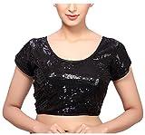MSM Women's Sequined Regular Fit Saree B...