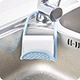 #2: HOME CUBE® Foldable Sink Rack Cleaning Brush Drain Rack Shelf Sponge Soap Holder Rack Draining Hook For Kitchen Bathroom Accessories - Random Color