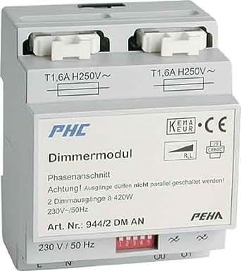 PEHA Phasenabschnittdimmer 2x420W D 944/2 DM AN