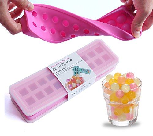 (2er-Set) Ice ball mold ice cube maker Eiskugel Form mini Eiswürfelbehälter 20 Hohlraum Eis Schokoladenmilch Geleeform Eis Kugeln Bällchen Eis cube Silikonform Backen Eiswürfelformen - Rose