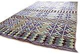Damask Unst 200cm x 300cm lilla, Beige, kilim Oriental Rug, Tappeto, Kelim Carpet/Floor Mat, Tapestry Wall Hanging, Tappeto da parete Decorazione, Area Rug, Tappeto, nuovo, S 1–6–26