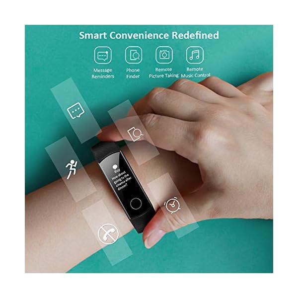 HONOR Band 5 Smartwatch Pulsera de Actividad con Pulsómetro Mujer Hombre, Monitor de Actividad Deportiva, Ritmo Cardíaco, Impermeable IP68, Reloj Fitness, con Podómetro 3